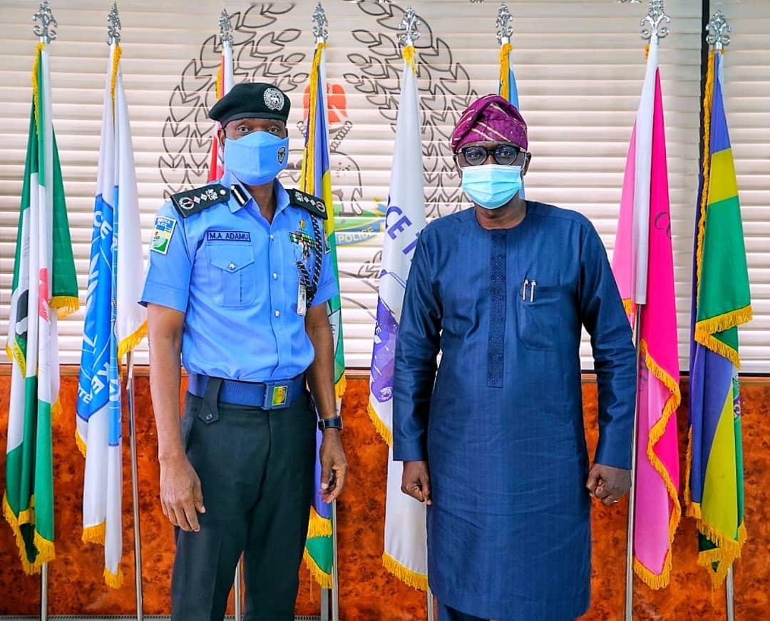 Governor Babajide Sanwo-Olu meets with IGP