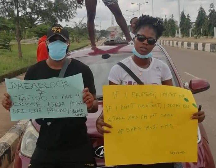 Ebonyi #EndSARS protesters