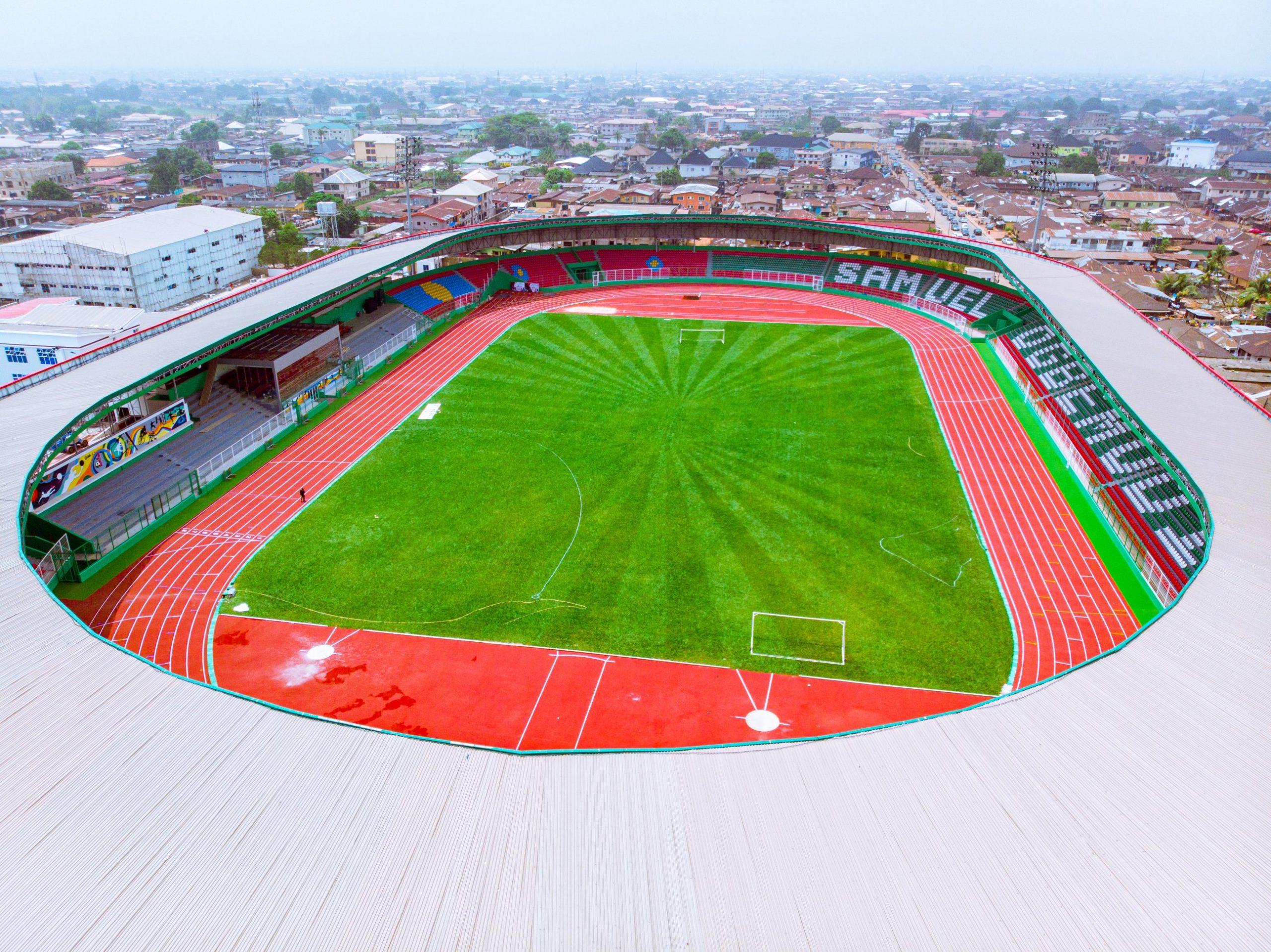 Aerial view of the Samuel Ogbemudia Stadium, Benin City, Edo State.