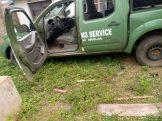Customs operational vehicle damaged