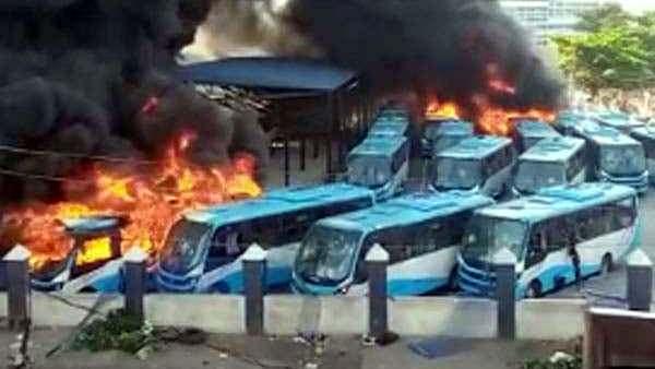 Lagos state bus terminals at Oyingbo, Yaba and Berger
