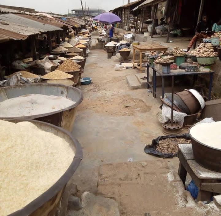 Bodija market, an open-air market located in Ibadan, is a fighting ground turned market in 1987 (Credit: Yusuf Akinpelu).
