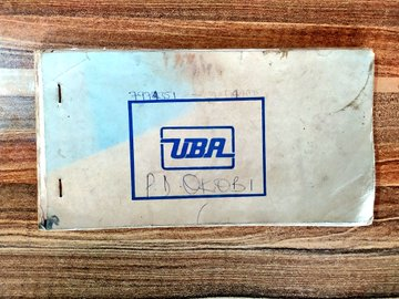 UBA cheque book when there was no mobile banking (Credit: Twitter, @Bodasheeee).