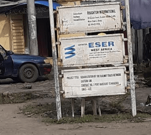 Eser West Africa boldly on the body at Port Harcourt station.