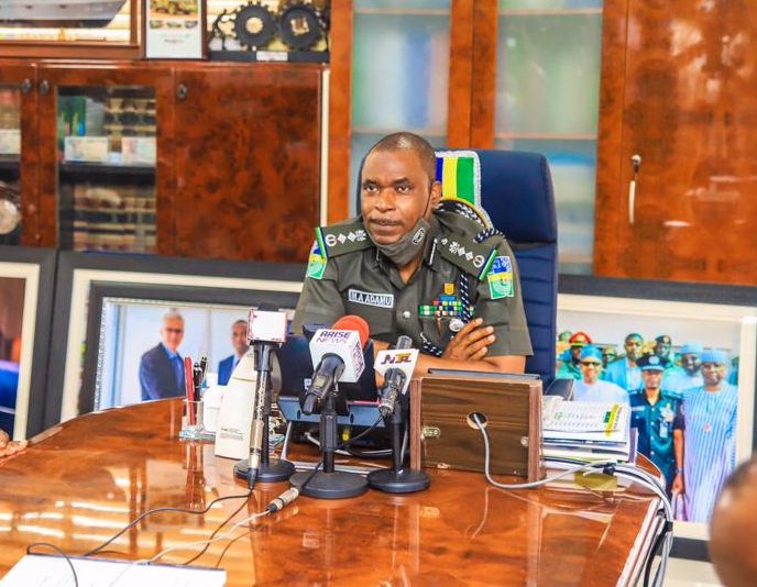 Inspector General of Police (IGP), Mohammed Adamu [PHOTO CREDIT: Nigeria Police Force on Facebook]