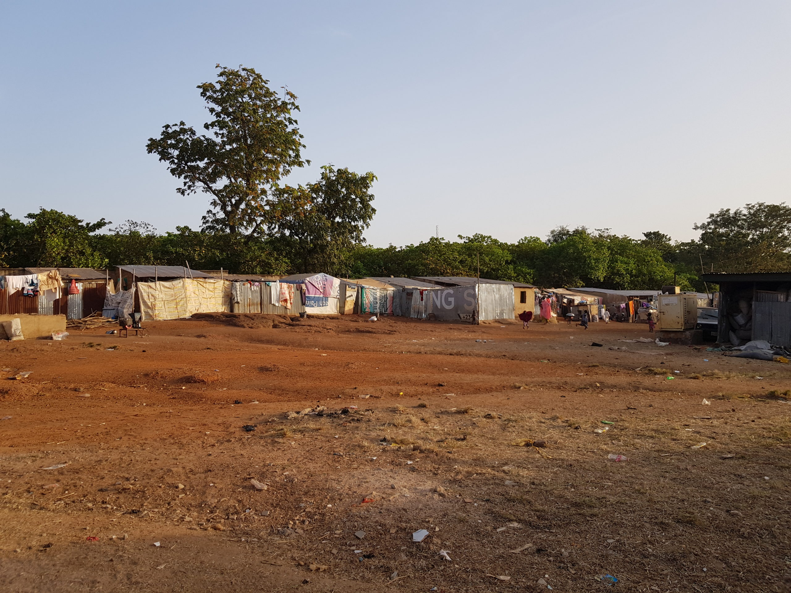 The donated maternity ward of the Durumi settlement