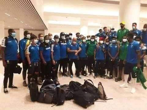 Gabon players were held at a Gambia airport for six hours before their game in the nation [PHOTO: TW @FIFPro]
