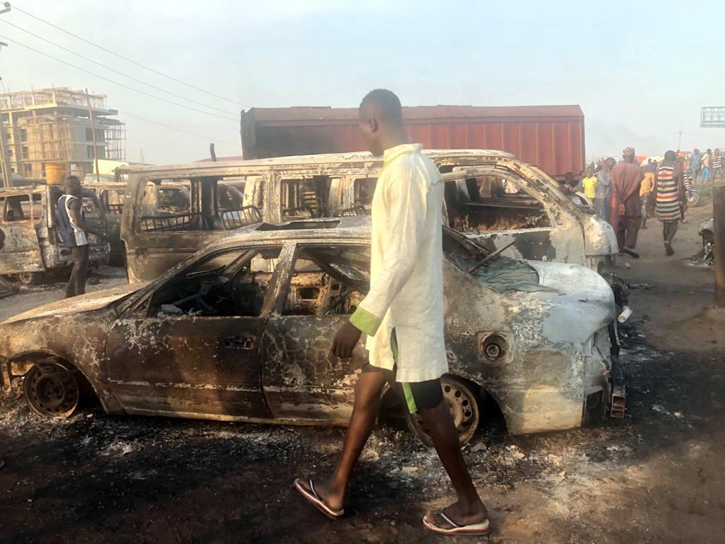 Over 30 vehicles razed In Fresh Tanker Accident