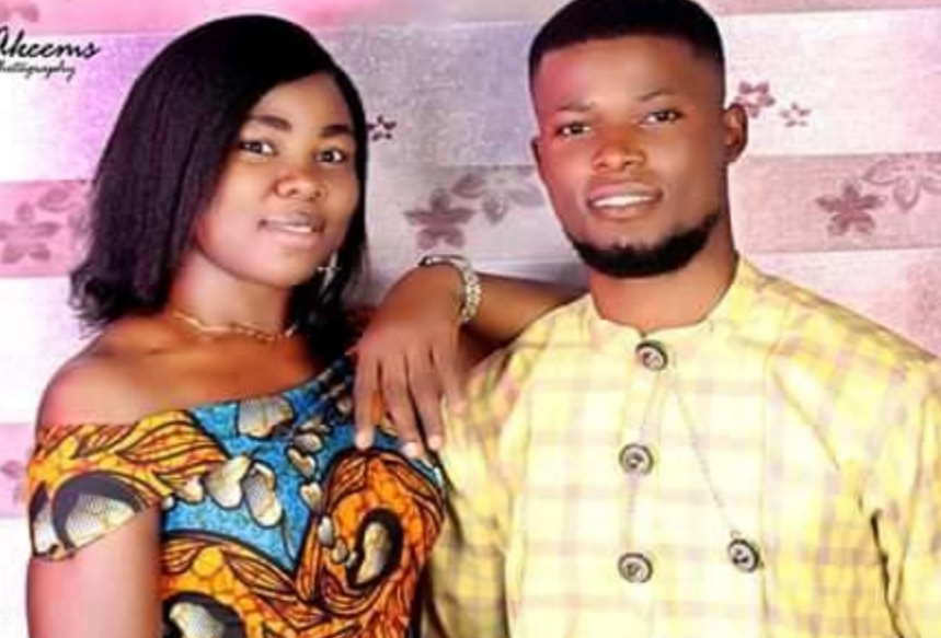 Photo: The lovers, Monday Bakor and Queen Nwazuo before Queen was shot dead. Photo shared by Mr Bakor.
