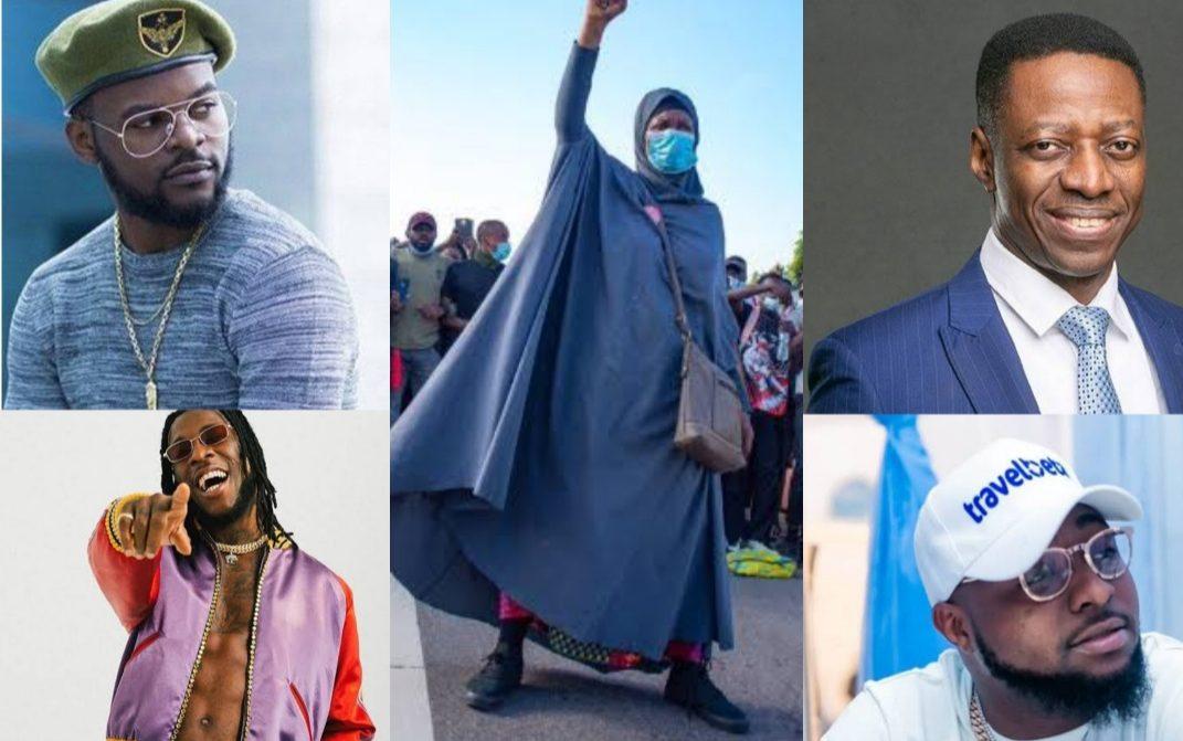 EndSARS: Man sues Aisha Yesufu, Falana, Davido, Burna Boy, Don Jazzy others