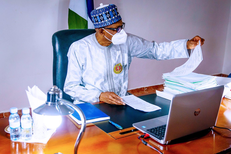President Muhammadu Buhari is participating in this week's Federal Executive Council (FEC) Meeting from Daura, Katsina State. [PHOTO CREDIT: @BashirAhmaad]