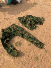 - One set of complete army camouflage