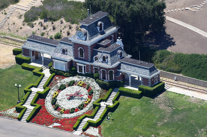 The ranch was Michael Jackson's pride and joy. Pictured, Neverland's private train station when the singer was still alive. [Photo: Splash]
