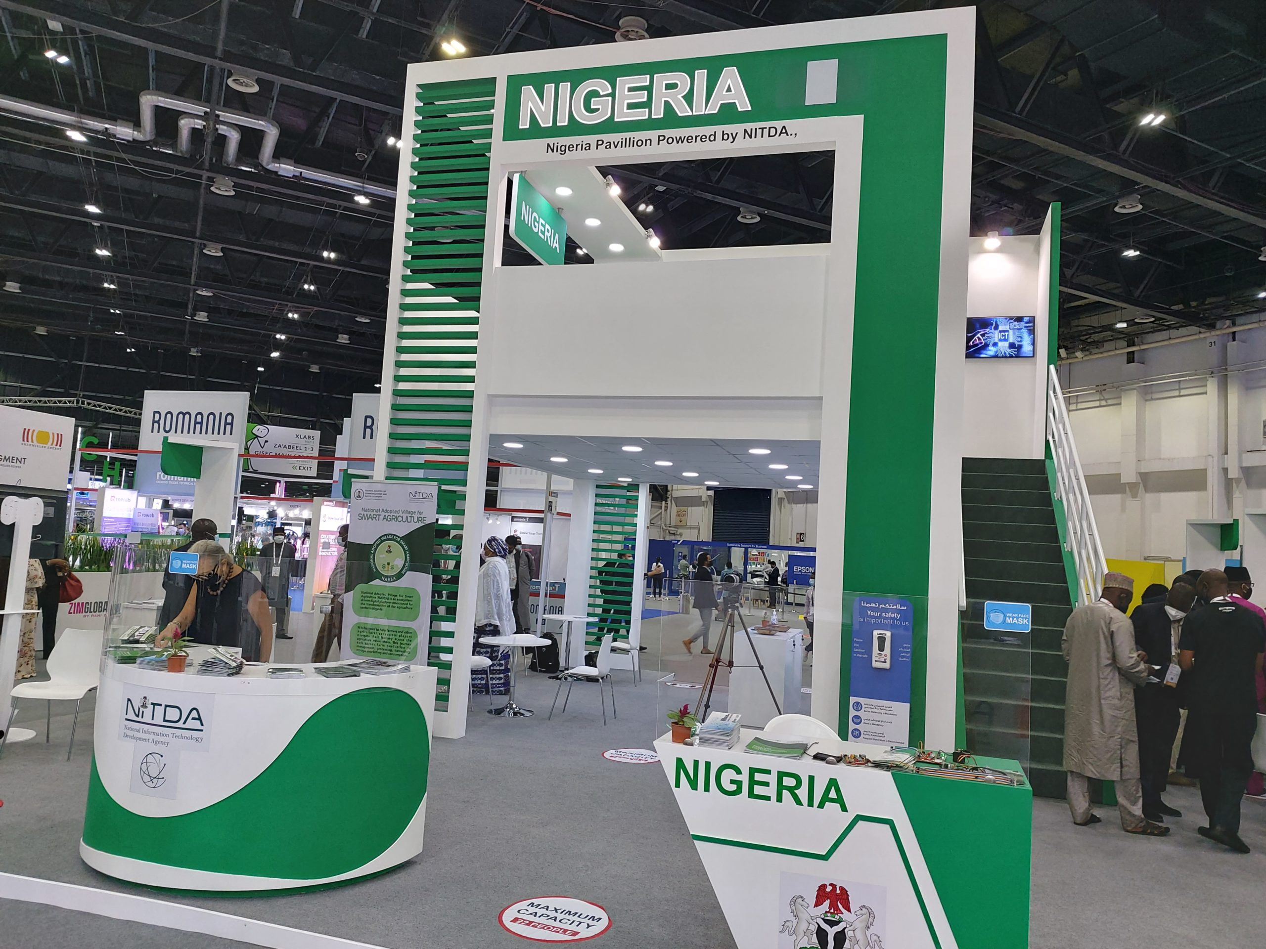 Nigerian pavilion at the 2020 GITEX Technology Week which opens on December 6, 2020 at World Trade Centre, Dubai. (Photo Credit Abdulaziz Abdulaziz)