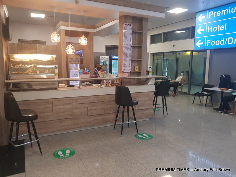"""The very basic café that caters to the food and beverage needs of the entire terminal, which can be hundreds of people at a time."""