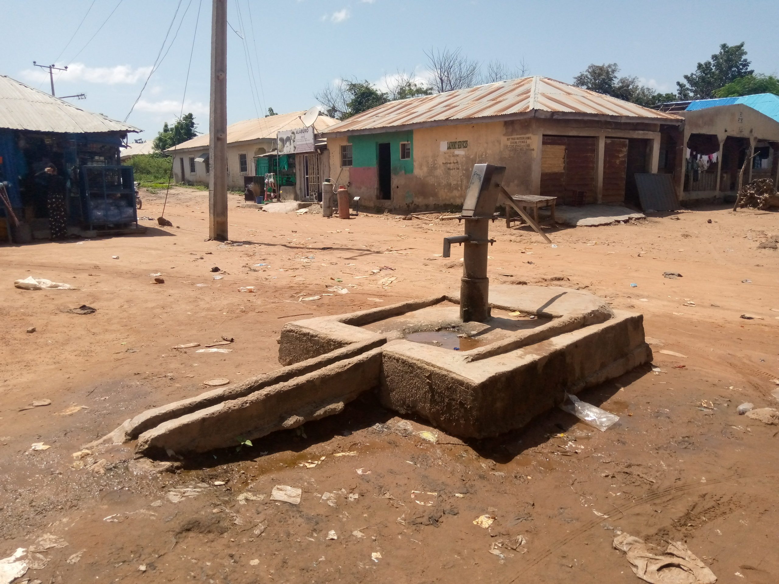 The only borehole in Safari Village