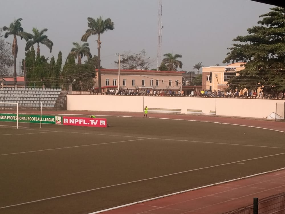 Fans are not allowed into Agege Stadium