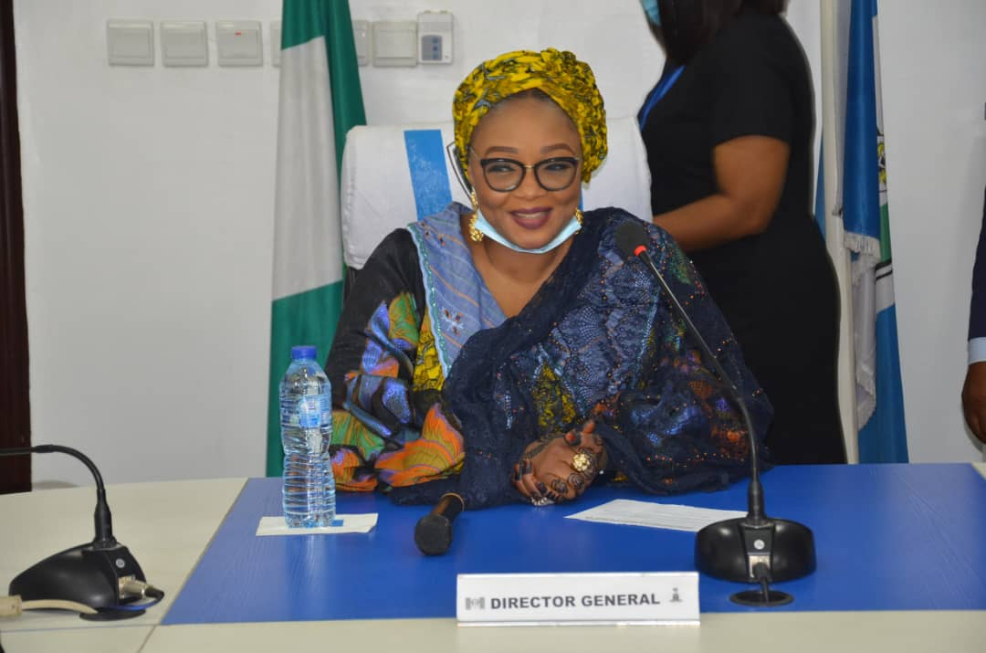Director-General of NAPTIP, Imaan Suleiman-Ibrahim [PHOTO CREDIT: @naptipnigeria]