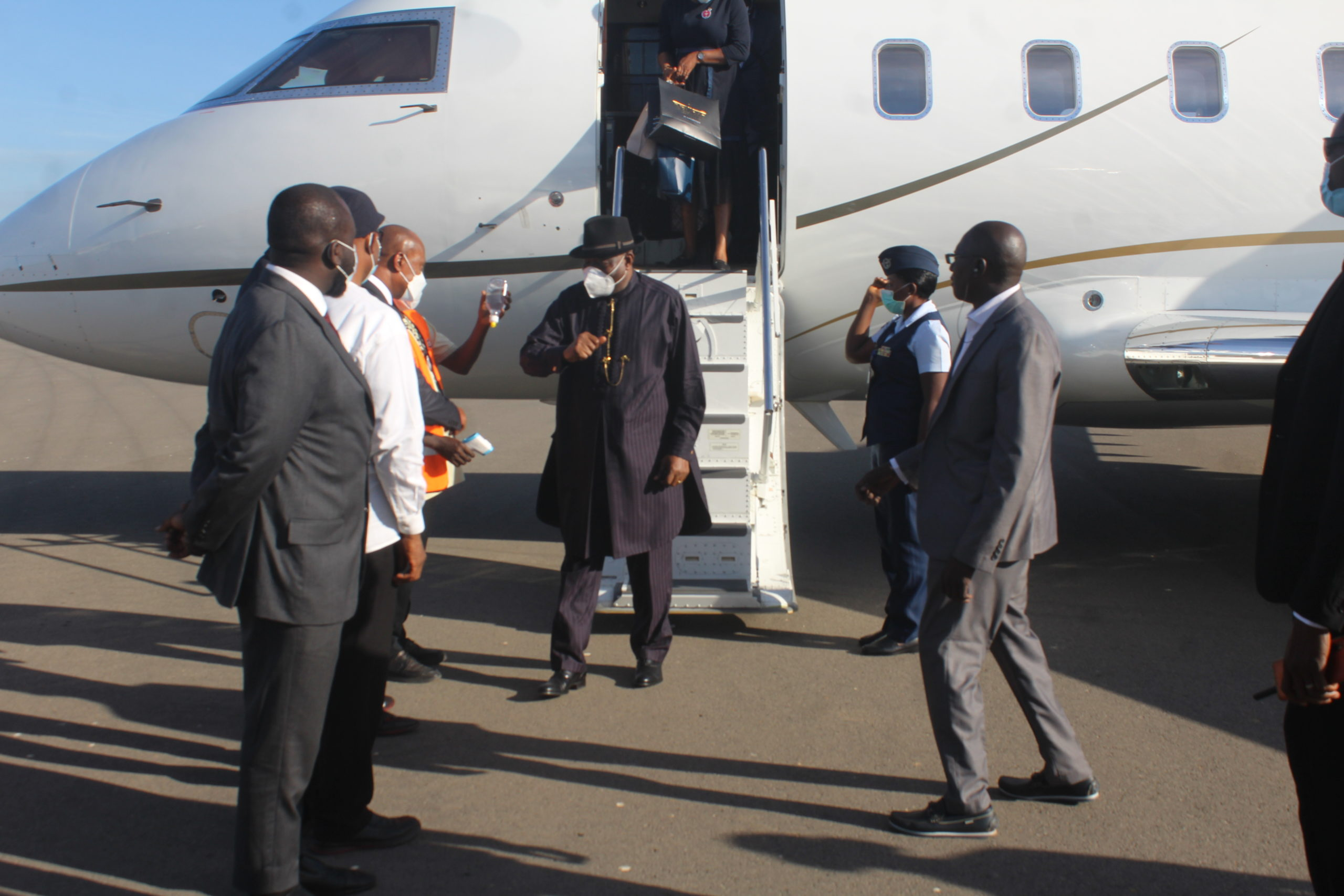 Jonathan returns to Gambia to support constitution review process
