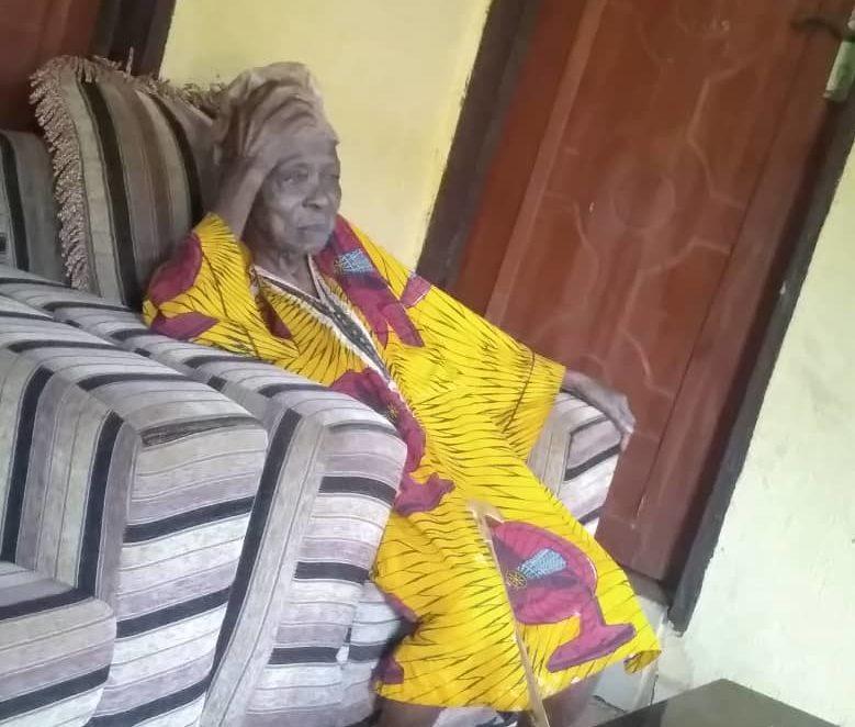 The Okparan-uku, Vincent Odili, the head of Idumesah kingdom, Ikah North East LGA, Delta state sitting at his palace