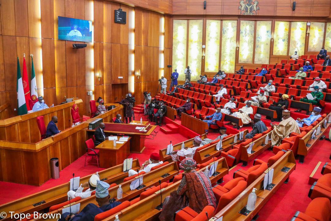Senate chambers during plenary. [PHOTO CREDIT: @NgrSenate on Facebook]