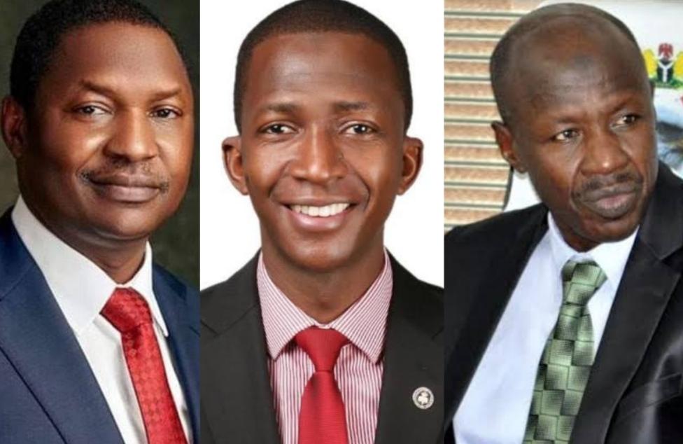 Abubakar Malami, Abdulrasheed Bawa and Ibrahim Magu