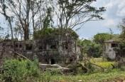 Destroyed building at Iye-kere