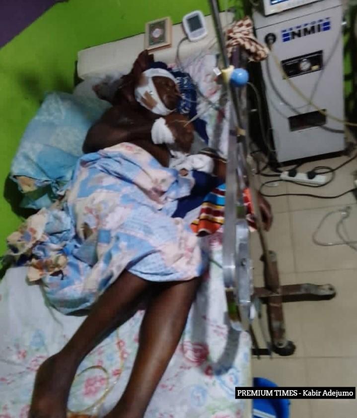 Fawale Rafiu in hospital