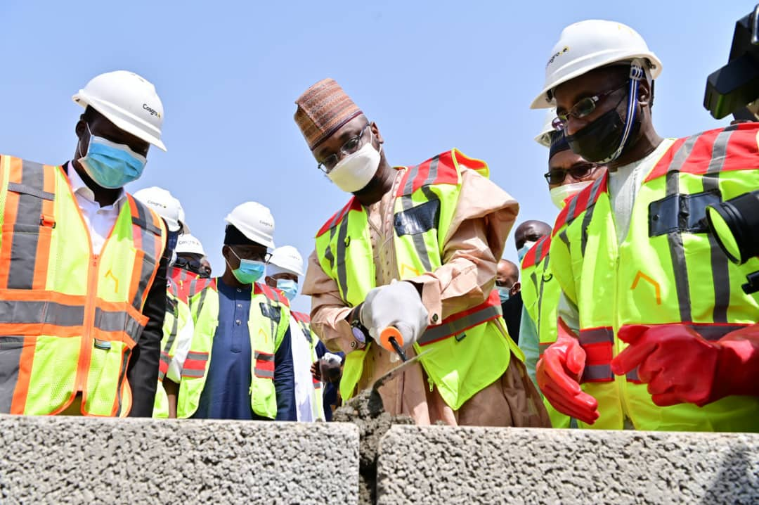 The Group Managing Director, Nigeria National Petroleum Corporation (NNPC), Mallam Mele Kyari addressing dignitaries at the Groundbreaking Ceremony of the National Digital Innovation and Entrepreneurship Centre, in Abuja, on Thursday.