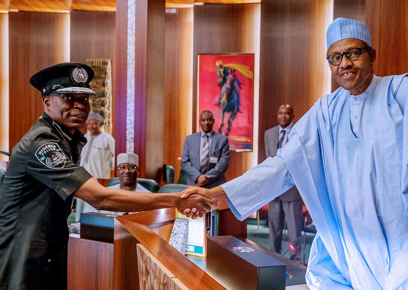 President Muhammadu Buhari and Mr Mohammed Adamu