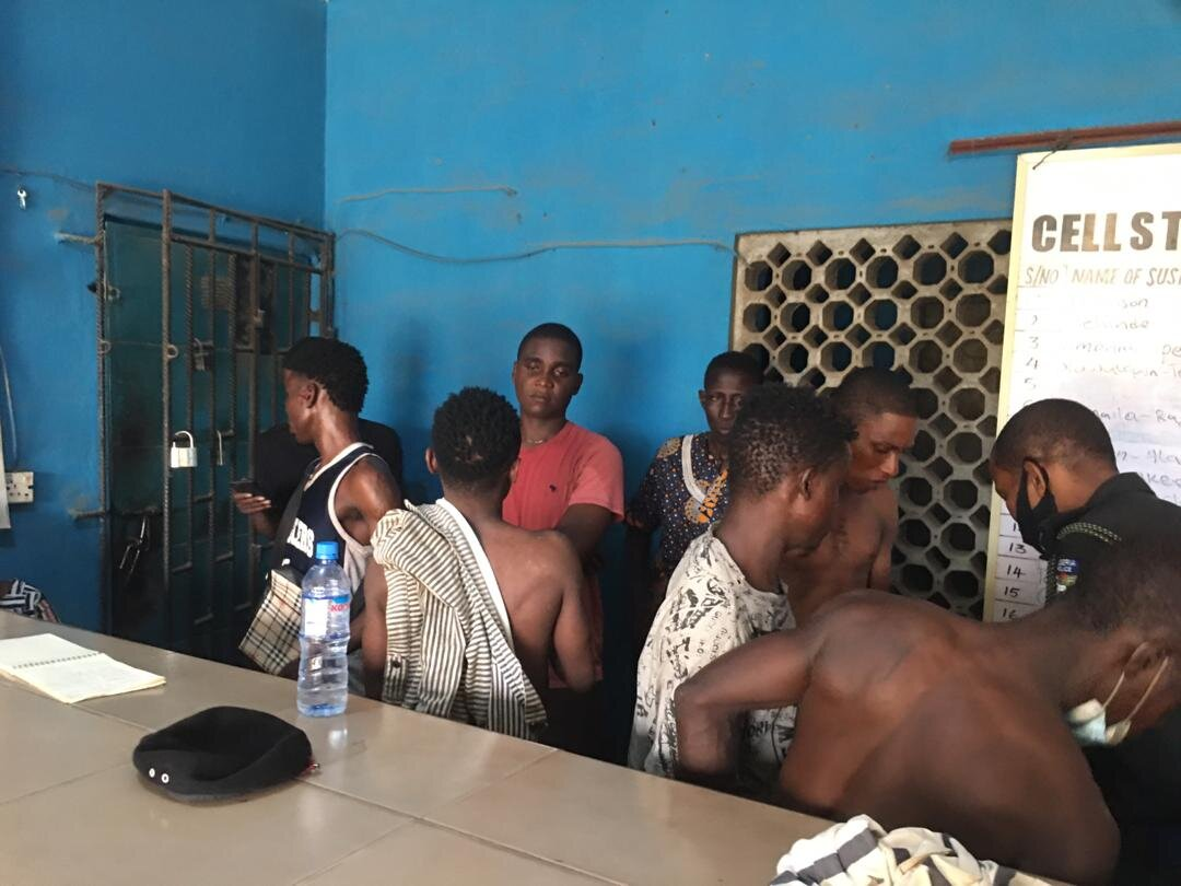Some of the arrested suspects at Alakuko, Dalemo and Kola areas of the state.