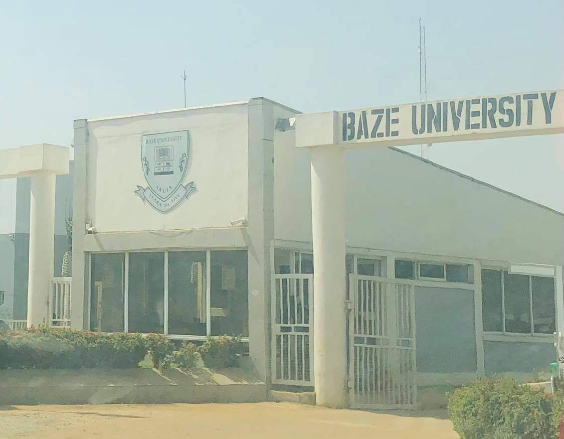 Front entrance of Baze university in Abuja.