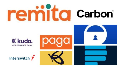 Logos of some Nigeria's financial technology companies