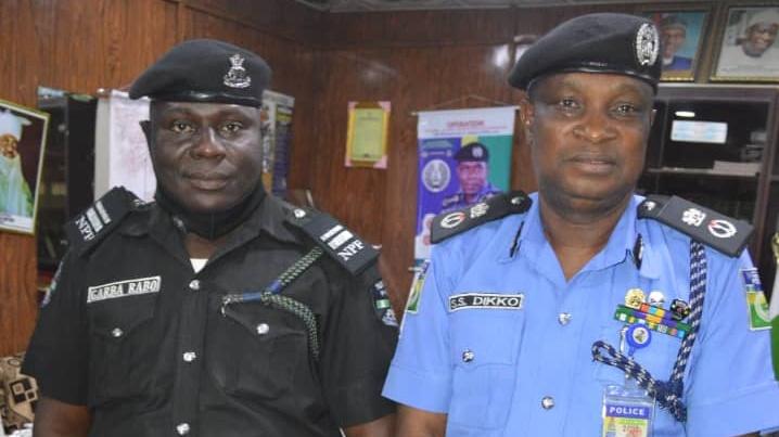 Commissioner of police Sama'ila Dikko and Inspector Garba Rabo.