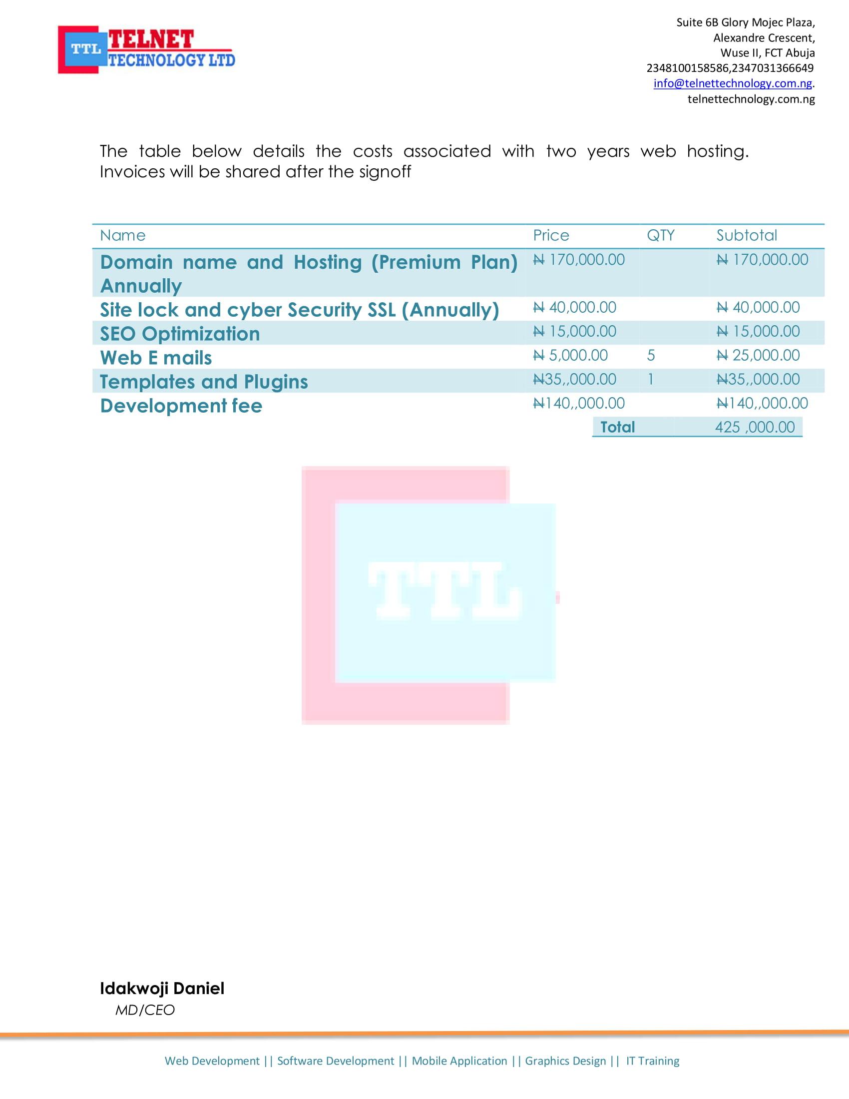 Telnet Web proposal