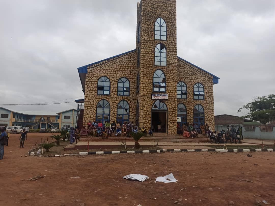 Defaced First Baptist Church, Surulere