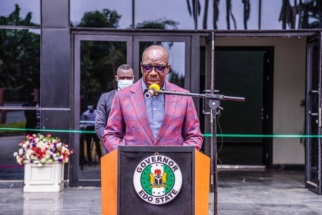 The Edo State governor, Godwin Obaseki [PHOTO CREDIT: @godwinobasekiofficial]