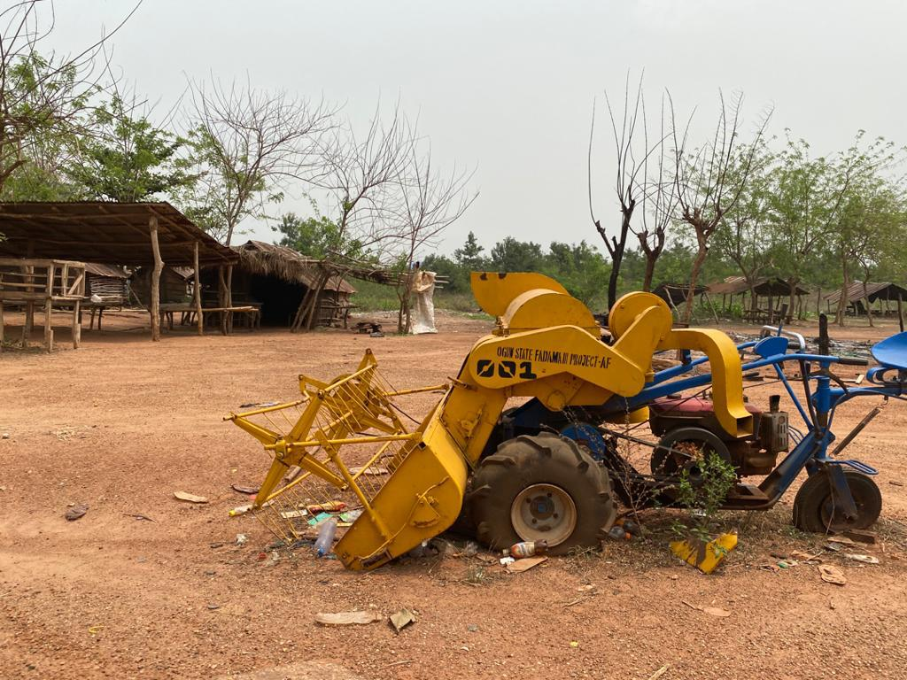 Another scene of the Fulani settlement in Eggua that was razed on February 1 by an angry mob.