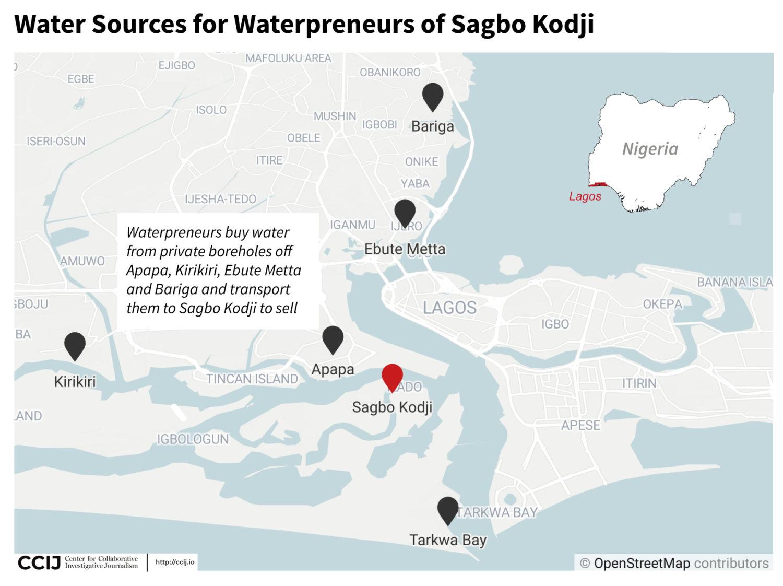 "Water sources for ""waterprenuers"" of Sagbo Kodji."