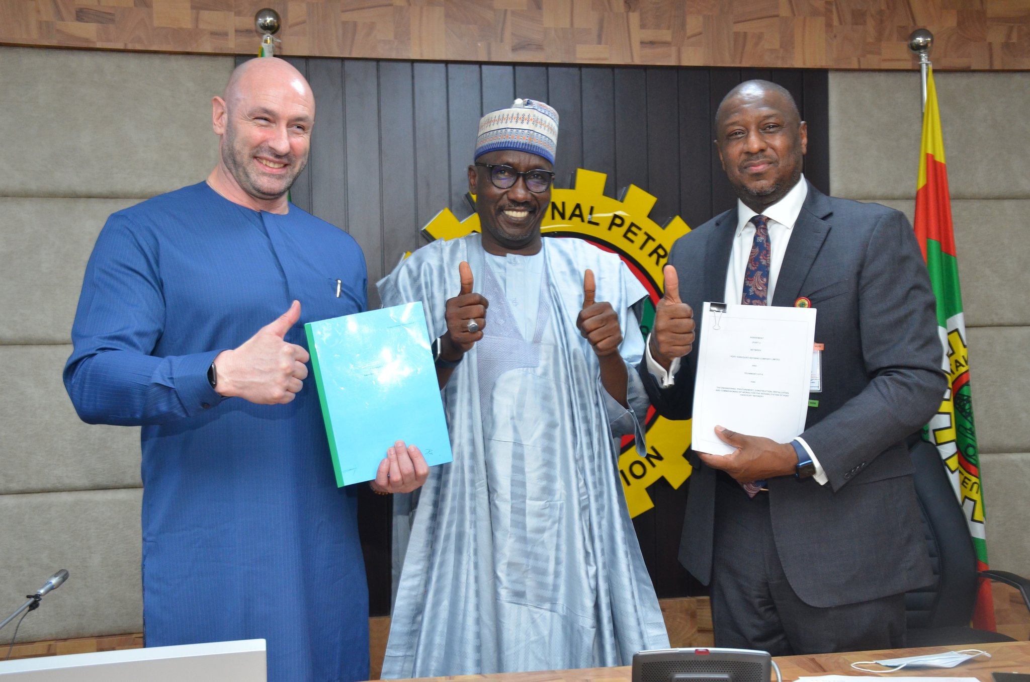 The historic Sign-off Ceremony of Engineering, Procurement & Construction (EPC) Contract for the Rehabilitation of Port Harcourt Refining Company (PHRC) between NNPC & Tecnimont SpA at the NNPC Towers