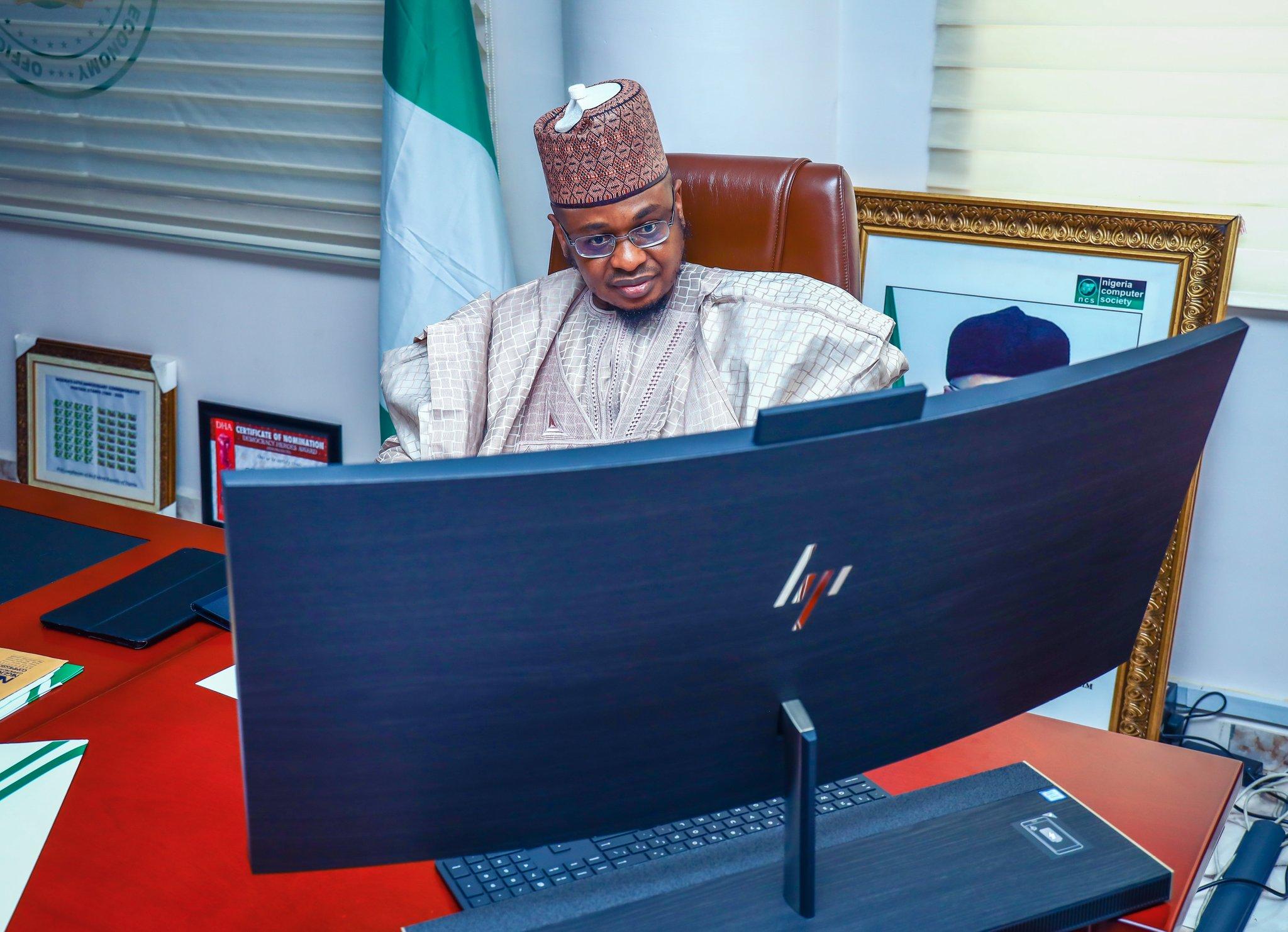 Minister of Communication, Dr Isa Ali Pantami [PHOTO CREDIT: @FMoCDENigeria]