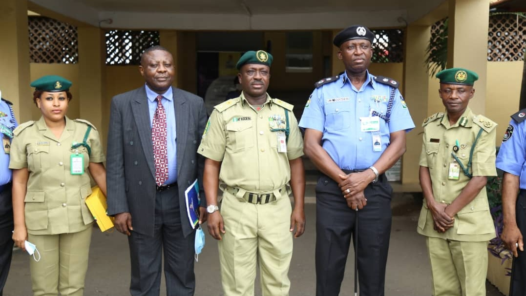Lagos Commissioner of Police meets with Controller of Correctional Service in Lagos.