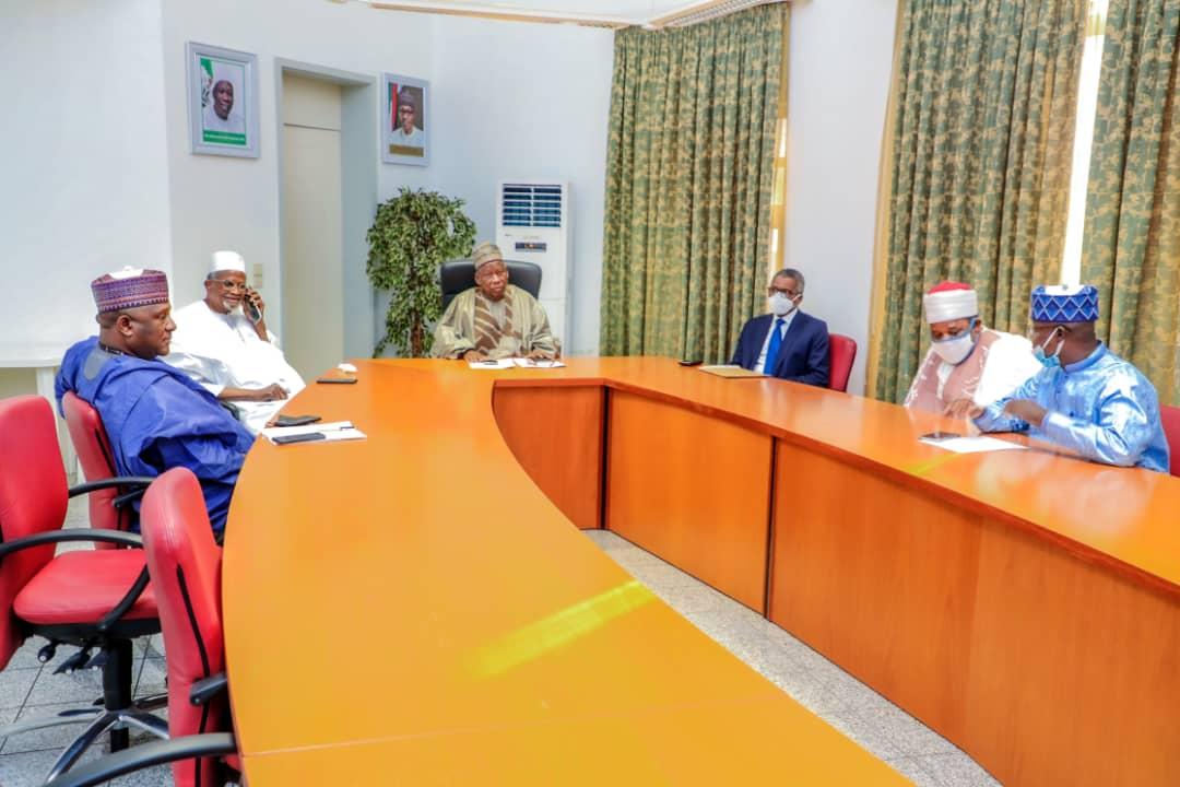 Governor Abdullahi Ganduje chairing the meeting.