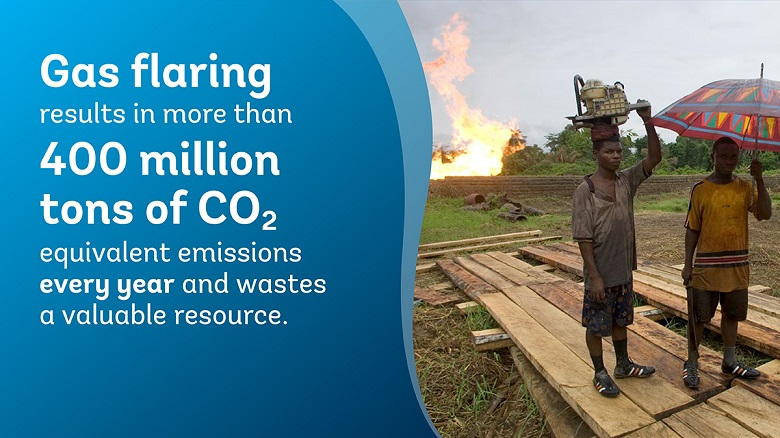 Gas flaring releases dangerous elements into the air Credit: World Bank