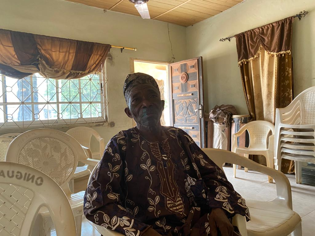 Pa Titus Elegbede, Baale of Ijabo, a suburb of Eggua and grandfather to Taye Falola, girl whose fiancé was gruesomely murdered.