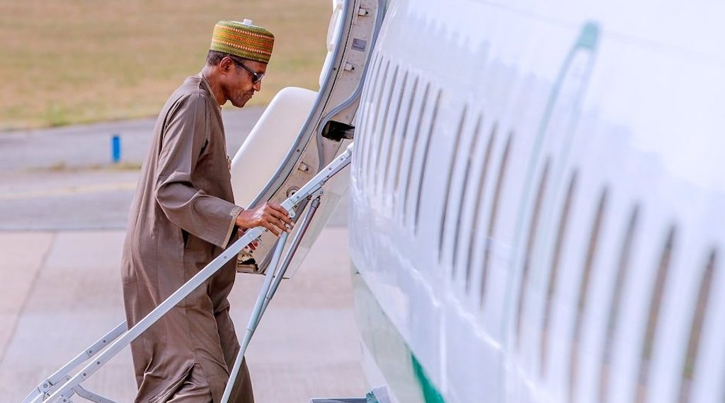 President Buhari Travelling abroad.