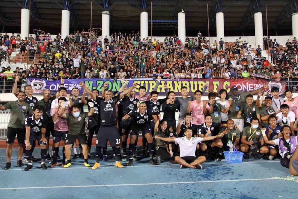 Suphanburi FC after their escape from relegation
