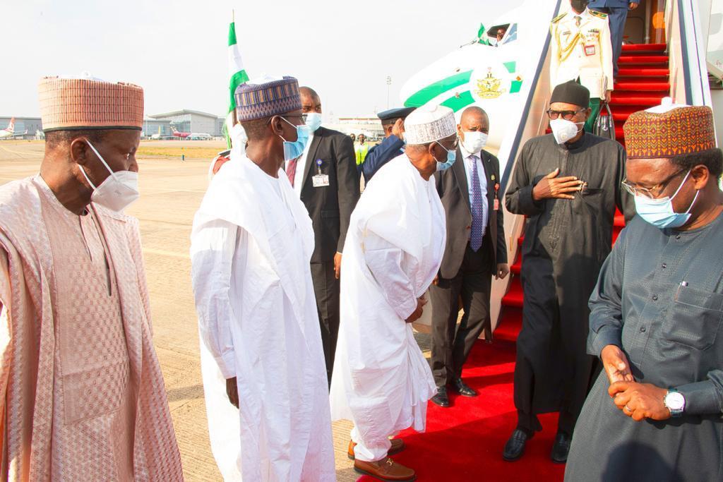 President Muhammadu Buhari returns to Nigeria