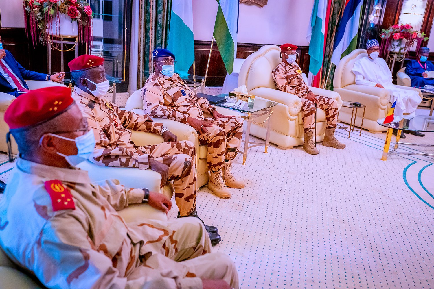 President Muhammadu Buhari received Lt. Gen. Mahamat Idris Deby-Itno, the President, Transitional Military Council of the Republic of Chad at the State House, Abuja. [PHOTO: Presidency]