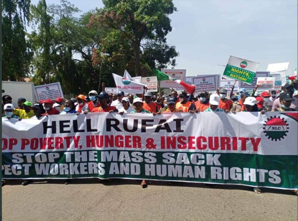 Kaduna State NLC Protest
